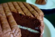 VVelvety Chocolate Cake with Banana Butter Cream 嫩嫩的香蕉奶油夹心巧克力蛋糕